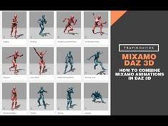Mixamo and Daz 3D - How To Combine Mixamo Animations In Daz - YouTube