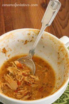 {Crock Pot} Creamy Italian Chicken Tomato Soup--buy the low fat coconut canned milk