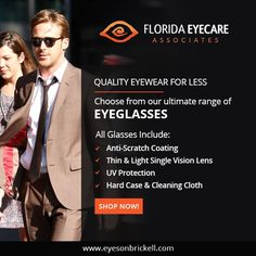 At Eyes On Brickell Optical Boutique we only sell premium quality eyewear to help you fulfill your eyewear needs in a right way. Get connected with us through our website for high quality and fashionable eyewear.  #EyeCare #Brickell #Miami  http://floridaeyecareassociates.com/eyesonbrickell
