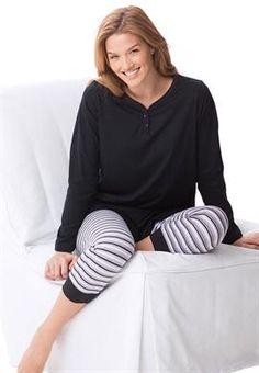 2 piece set plus size fleece pajamas   Sleepwear   Pinterest ...