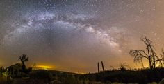 Milky Way Panorama at Cuyamaca Rancho State Park. Different processing.