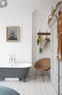 parquet bianco per il bagno!