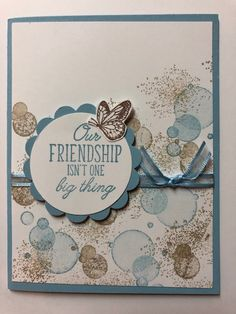 Pop Up Flower Cards, Butterfly Cards, Stampin Up Anleitung, Scrapbook Cards, Scrapbooking, Friendship Cards, Stamping Up Cards, Cute Cards, Creative Cards