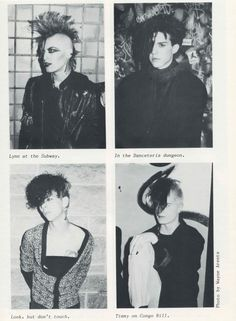 black and white, goth, gothic, gothic subculture, magazine scan, post-punk, vintage, scanned image, Propaganda magazine, Wayne Arents