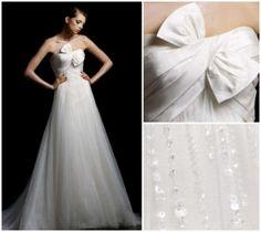 Bolivia Wedding Dress $945  #wedding #weddingdress #bridal #winterwhite #lightivory #tulle