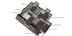 mogelijke indeling appartement herenhuis ontwerp: Inka van Uem www.zomooj.nl