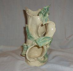 handmade leaf on rotted log study - autumn green on satin white - Michael MacDonald 2014