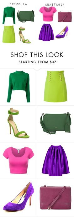 """Drizella and Anastasia"" by mainlydisney on Polyvore featuring DKNY, Gucci, Gianvito Rossi, INC International Concepts, John Lewis and modern"