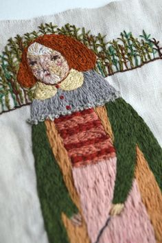 White Hare Handstitched Embroidery by maidolls