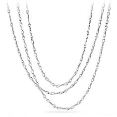 David Yurman Continuance Small Sterling Silver Chain Necklace ($950) via Polyvore featuring jewelry, necklaces, silver, david yurman jewellery, david yurman jewelry, sterling silver necklace, david yurman and sterling silver jewelry