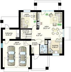 Projekt domu Robinson N 141.98 m² - Domowe Klimaty Floor Plans, House, Home, Homes, Floor Plan Drawing, Houses, House Floor Plans