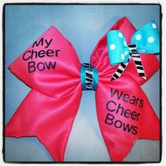 My cheer bow wears cheer bows- Must have this