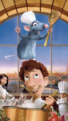 "Wallpaper for ""Ratatouille"" Disney Pixar, Disney Cartoon Movies, Disney Films, Disney Animation, Disney Cartoons, Disney Art, Walt Disney, Disney Characters, Animation Movies"