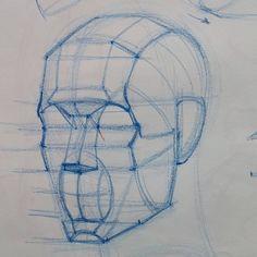 "1,514 Likes, 8 Comments - Ramon Alexander Hurtado (@ramon.alex.hurtado) on Instagram: ""Diagram in progress from today's class at @laafa #art #artist #portrait #sketch #drawing…"""