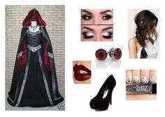 """Medieval black, red and silver outfit"" by alexaluc13 ❤ liked on Polyvore featuring Charlotte Tilbury and With Love From CA"