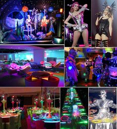 Add colour to your life with a futuristic/Sci-Fi Colourful themed party