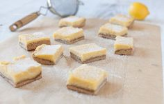 Luscious Lemon Bars (nut-free) #paleo #glutenfree #againstallgrain