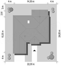 Rzut projektu Dom na Parkowej 2 Small Villa, Floor Plans, Diagram, Home Decor, Decoration Home, Room Decor, Home Interior Design, Floor Plan Drawing, Home Decoration