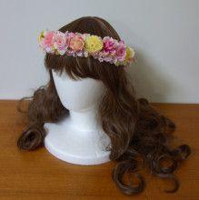 ピンク&イエローのリボン付き花冠☆ |Ordermade Wedding Flower Item MY FLOWER ♪ まゆこのブログ