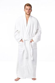 High Style Men Women 100% Turkish Cotton Full Length Kimono Bathrobe *** This is an Amazon Affiliate link. Details can be found by clicking on the image.