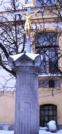 Kříž u fary - Varnsdorf - Česko