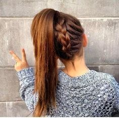 Back to School Hair Styles for Teens: Upside Down French Braid