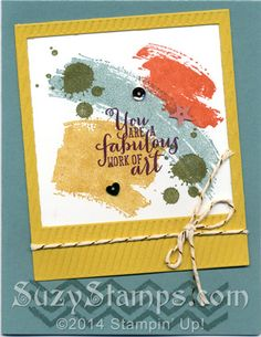 Stampin' Up! Cards - Work of Art and Gorgeous Grunge stamp sets, On Film Framelits Dies