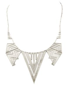 Chevron Five Station Necklace | Glamhouse