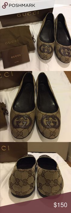 Classic Gucci Flats Worn once / Pristine condition with dust bag and original box Gucci Shoes Flats & Loafers