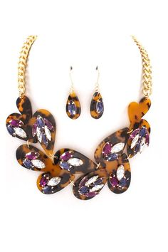Sedona Necklace Set in Royal