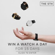 REPIN TO WIN: I'm in the running to win a 5th timepiece (click this pin to enter)