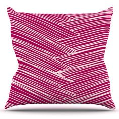 East Urban Home Loom by Anchobee Outdoor Throw Pillow