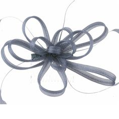 Silver Grey Coiled Looped Bow and Feathers Hair Comb Fascinator >>> Be sure to check out this awesome product.
