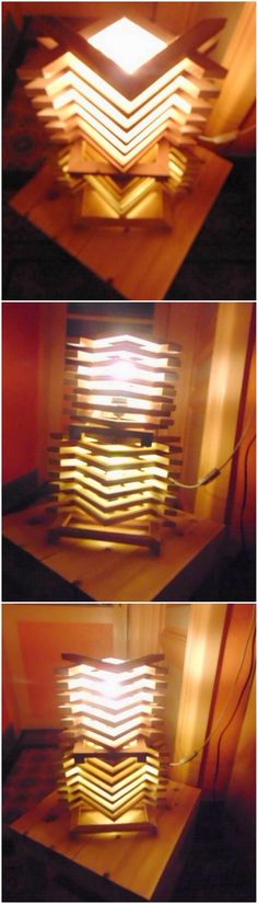 If you are not in favor to add small lamp boxes in each corner of the house, then do bring about the taste of decoration with this flawless design of wood pallet lamp design creation. It is a long vertical design lamp creation that would give your house a worth mentioning appearance.