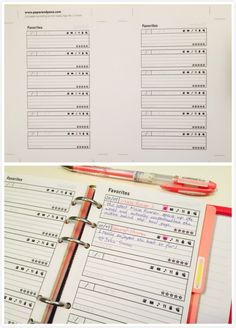 Planner Free Printable Inserts: Favourites!