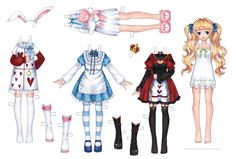 Alice In wonderland paper dolls?
