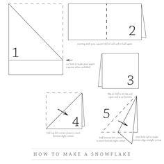 Paper Snowflake Making