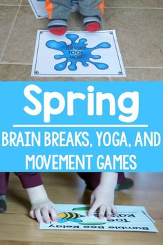 Spring themed gross motor. - games, brain breaks, and yoga.  A great variety pack to use all Spring to keep movement in the classroom, home, or therapies!