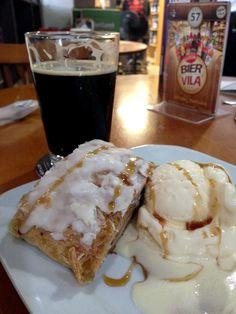 Apfelstrudel x Saint Bier Stout #cerveja #harmonizacao #beer #food #pairing