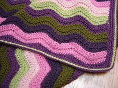 Pattern for Straight Edge for Ripple Blanket