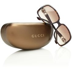 Ladies Gucci sunglasses ($540) ❤ liked on Polyvore