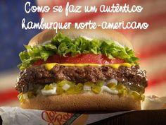 Como se faz um autêntico hambúrguer norte americano - Receita passo a passo
