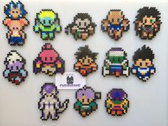Dragon Ball Z Mini Perler Bead Sprite Art Magnets/Car by SDKD