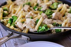 Skillet Creamy Lemon Chicken Pasta with Broccoli