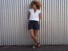Tessuti Fabrics - Leni Top Pattern - Esther Shorts Pattern