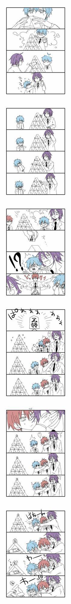 Kuroko no Basket (黒子のバスケ) - Tetsuya Kuroko, Atsushi Murasakibara, & Seijuurou Akashi ^_^;