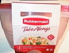 Rubbermaid Take Alongs Large Round Storage Container pack of 2 157 Cups  37 L  Red Top * You can find more details by visiting the image link.