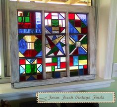 Stained Glass Windows~ - Farm Fresh Vintage Finds