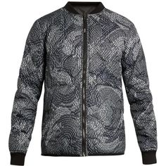 Kenzo Reversible quilted bomber jacket ($485) ❤ liked on Polyvore featuring men's fashion, men's clothing, men's outerwear, men's jackets, mens lightweight jacket, mens camouflage jacket, mens light weight jackets, mens lightweight quilted jacket and mens camo jacket