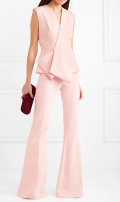 Deep V Neck Clubwear Tank Celebrity Evening Party Dress Mode Stage, Safiyaa, Pink Jumpsuit, Two Piece Jumpsuit, Wrap Jumpsuit, Black Romper, Pink Two Piece, Look Formal, Look 2018
